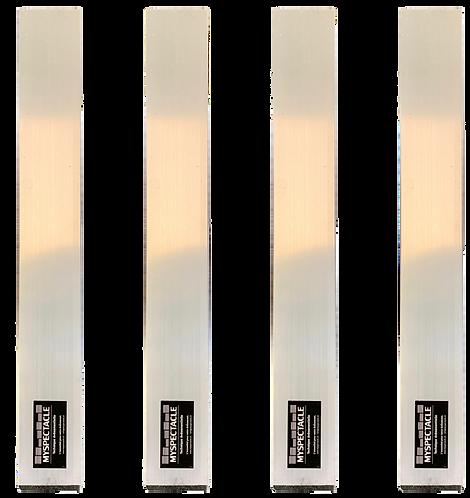 Pied pour praticable 40cm alu 50x50mm (kit de 4pcs)