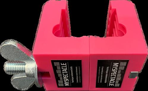 Mâchoire plastique rose pour praticable 2M