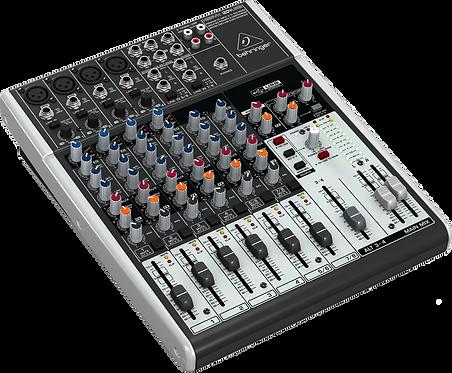 Behringer Xenyx QX1204 USB, 8 channels, multi-effets KLARK TEKNIK Console analog