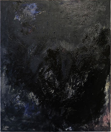 untitled, oil and pigments on canvas, 60 x 50 cm
