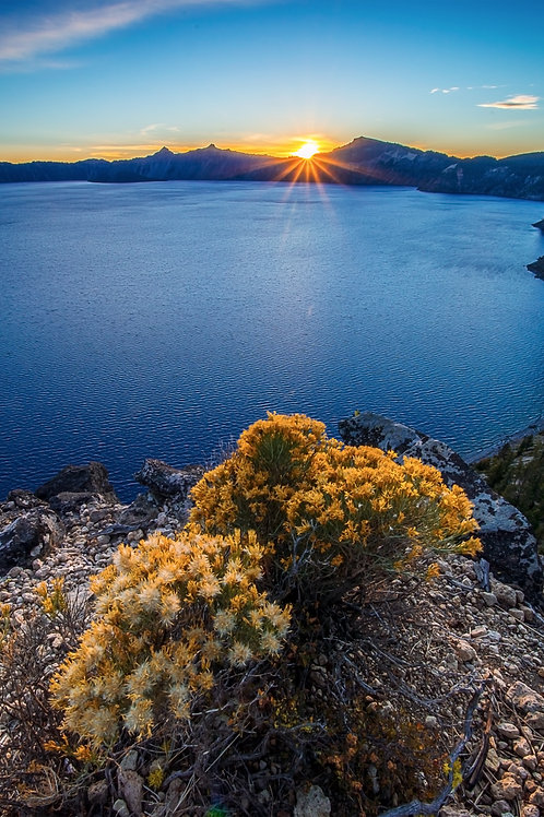 Order #MS0019 Crater Lake, Oregon at Sunset from Cloudcap