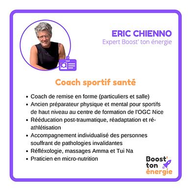 Eric Chienno Boost'ton énergie