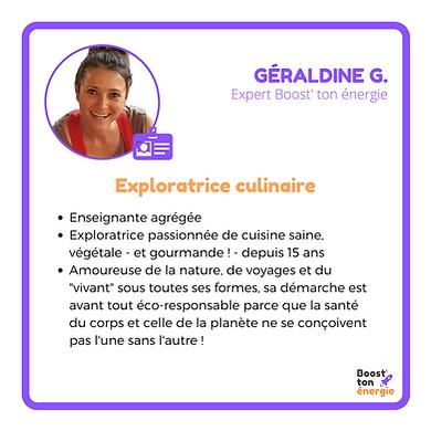 Géraldine G. Boost'ton énergie
