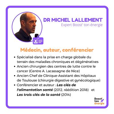 Dr Michel Lallement Boost'ton énergie