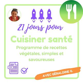 21 jours pour cuisiner santé