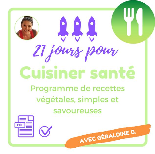 Booster cuisine santé