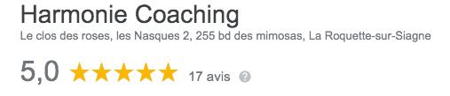 Avis Google Harmonie Coaching