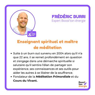 Frédéric Burri Boost'ton énergie