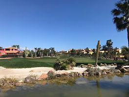 Desert Springs 18th Green from clubhouse