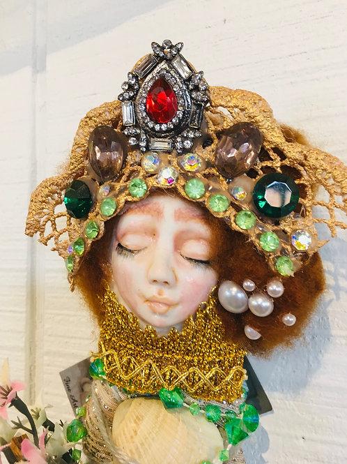 Mermaid Sleeps Art Doll OOAK Fine Porcelain Hand Sculpted Fairy Fantasy Magic
