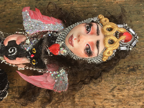 Goddess Hecate Cat Magnificent OOAK Art Doll kitty Hand Sculpted Original