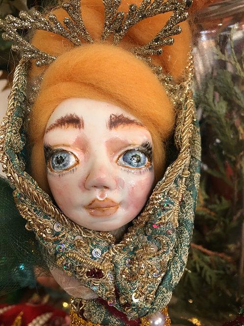 Mermaid Queen Art Doll OOAK Fine Porcelain Hand Sculpted Fairy Fantasy Magic