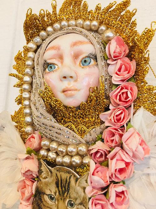 Enlightened Art Doll OOAK Fine Porcelain Hand Sculpted Winged Fantasy Magic