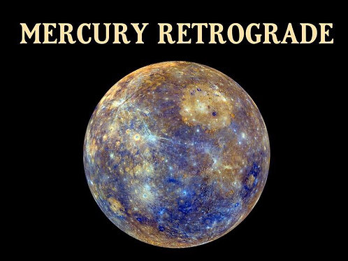 Mercury Retrograde Relief * Aura Spray * Organic Essential oils and Gem Elixir
