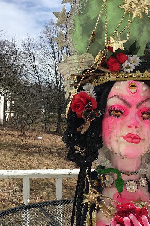 The Goddess Cries Hand Sculpted Large Bust Original Exquisite Art by Gina Luna