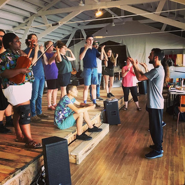 """From Tweed & Company's """"Aleck Bell."""" Choreographer Stephan Dickson and our castmate Cassie-Hope Aubin teach us some sign language choreography."""