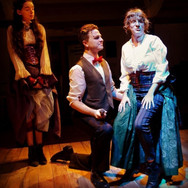 """From Tweed & Company's """"Aleck Bell,"""" in which I played the title role. Featuring Cassie-Hope Aubin behind me and Danielle Leger on my knee."""