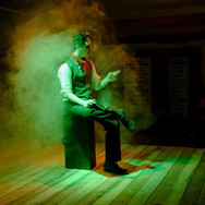 From Tweed & Co. Theatre's original production of Aleck Bell: A Canadian Pop Rock Musical, in which I played the titular role. Pretty typical of me to be making revelations in dramatic fog.