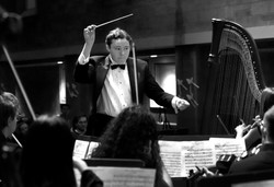 Benjy conducting the Mozart Society Orchestra