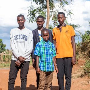 Charles Kayumba, Elias, Kenneth and Ben