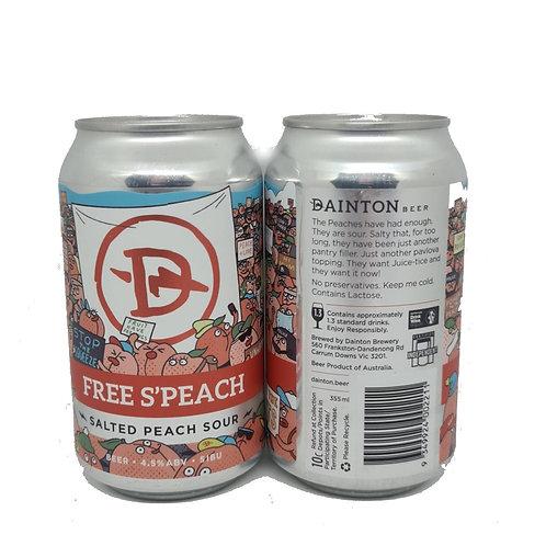 Dainton Free S'Peach Salted Peach Sour 4 pack