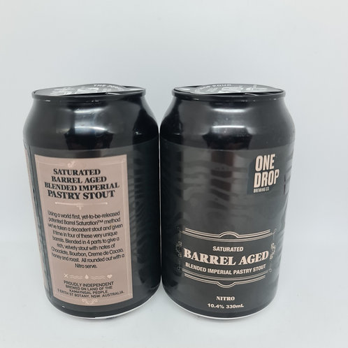 One Drop barrel Aged Blended Imperial Pastry Stout 4 pack