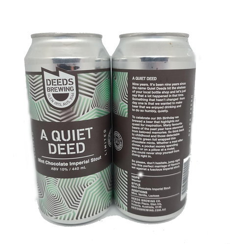 Deeds A Quiet Deed Mint Chocolate Imperial Stout 4pack