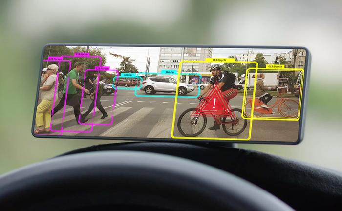 Pyrenee Drive ( 開発中 ) 物体認識の際の画面イメージ