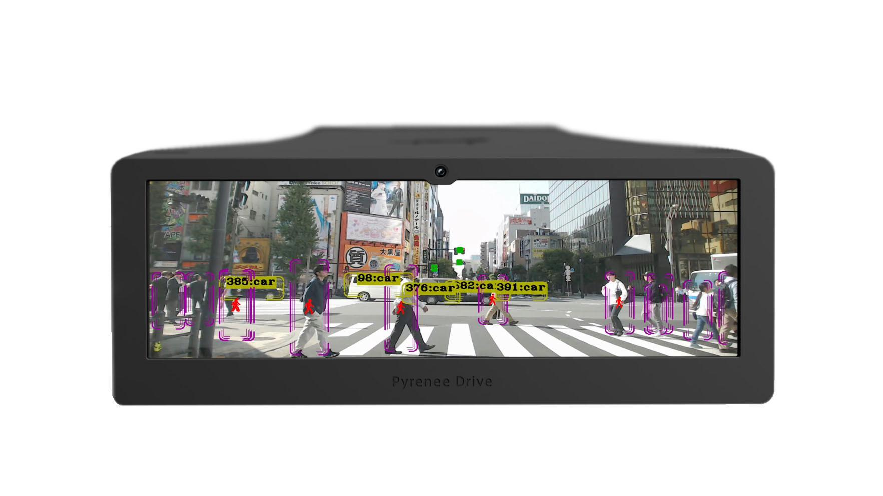 Pyrenee Drive ( 開発中 ) 認識画面イメージ