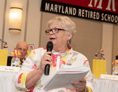 Incoming Membership Chair Ruth Clendaniel from Dorchester County