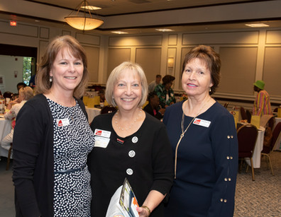 Office Manager Shirl Scanlon, Travel Chair Judy Adler Reiff, and Executive Director Wanda Twigg