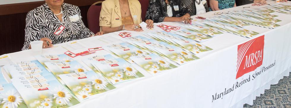 Prince George's Co Volunteers at Registration Tables