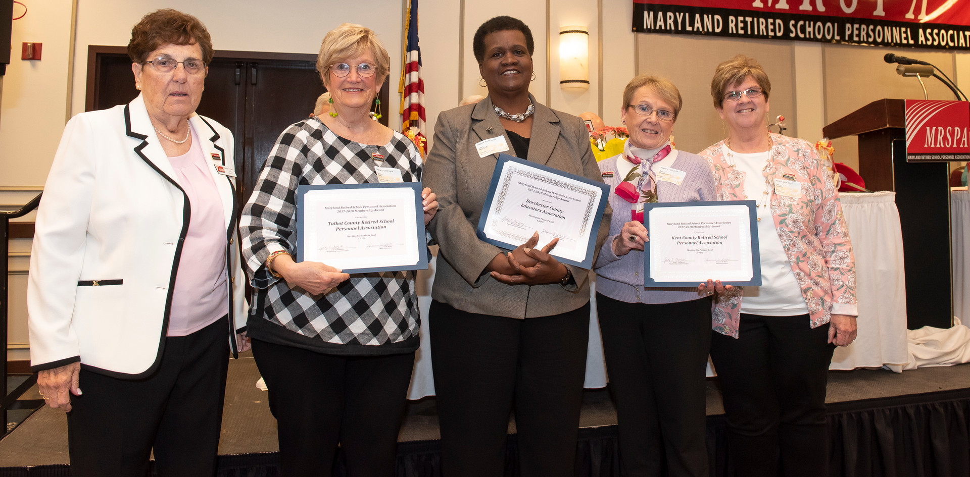 Membership Awards for Meeting Six-Percent Goal
