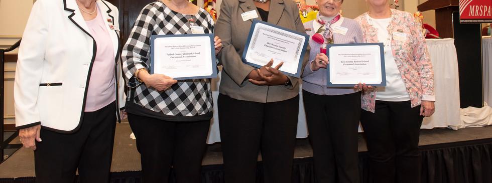 Membership Awards for Meeting Six-Percent Goal