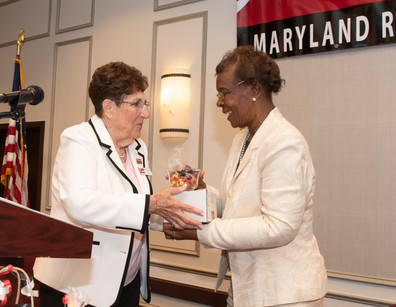 President Fay Miller, Kent County, and Vice President Lorraine Johnson, Prince George's County