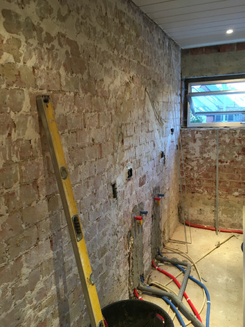Opbouw badkamer (totale renovatie)