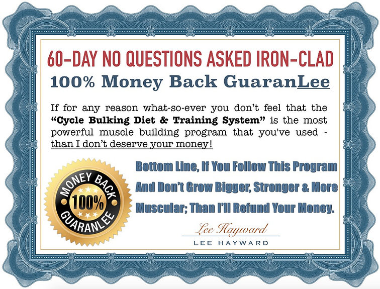 Cycle Bulking 100% Money Back Guarantee