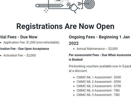 From CMMCAudit.Org: C3PAO Authorization Levels Explained