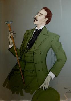 Digital rendering painting