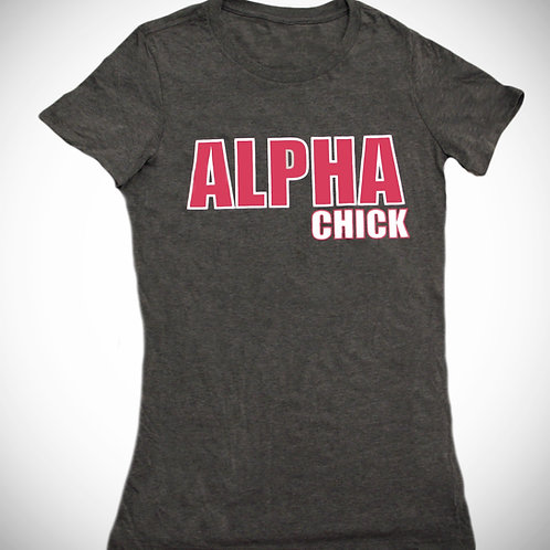 ALPHA Chick Heather Grey Tee