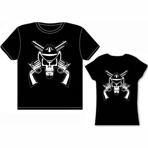 Skull and Guns T-Shirt (Men and Women)