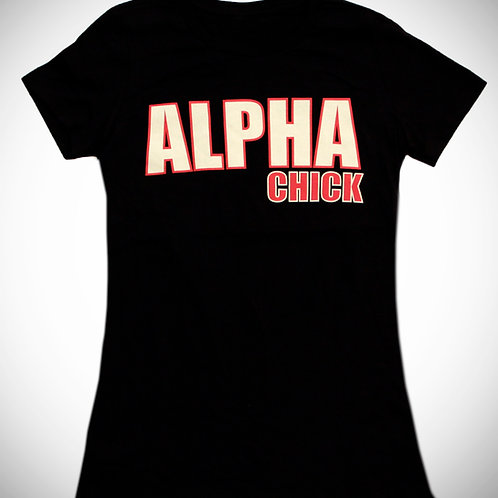 ALPHA Chick Black Tee