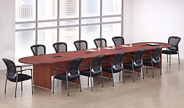 CT10.9A: 18' Racetrack laminate conference table