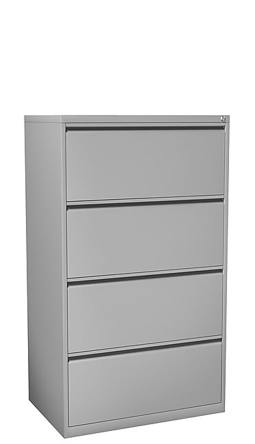 """F07A: 36"""" wide 4 drawer metal lateral file"""