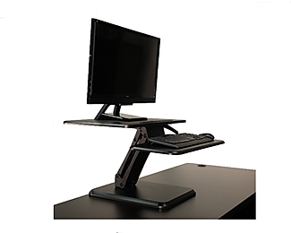 SS01: Single Monitor or Laptop Sit Stand Desk Riser