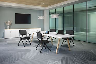 CT15.5A: 12' boat-shaped conference table