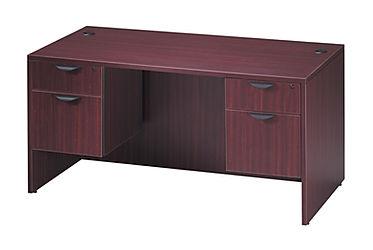 SD04B: Standard Double Pedestal Desk