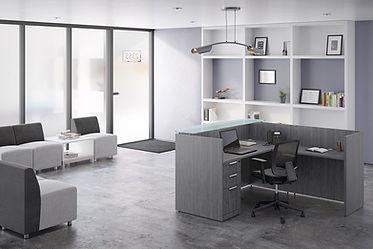 R08A: L-shaped reception desk