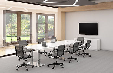CT13.9A: 8' boat-shaped conference table