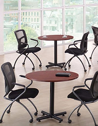 """MPT01F: 36"""" Round Table with Black X-Base"""